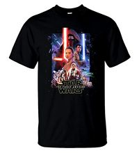 Star Wars The Force Awakens T Shirt American Action Movie Tee Men T-Shirt V.1 Free shipping  Harajuku Classic Unique