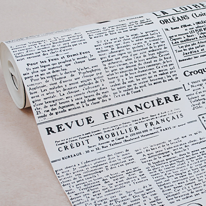 Vintage English Letter Wall Paper Newspaper Wallpaper Old Newsprint