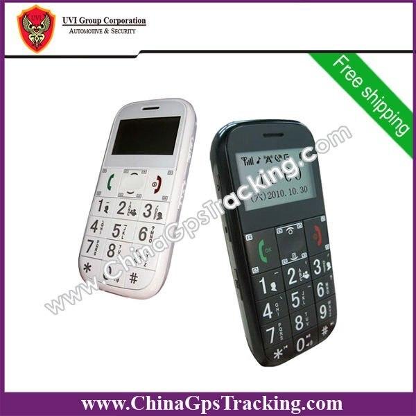 DHL Free Shipping! 2pcs/lot,Big Button Elder phone GPS tracker phone Quad band with SOS PT503