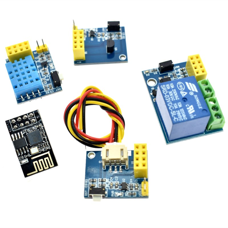 ESP8266 ESP-01S 5V WiFi Relay Module <font><b>DS18B20</b></font> DHT11 Things Smart Home Remote Control Switch for Arduino Phone APP image