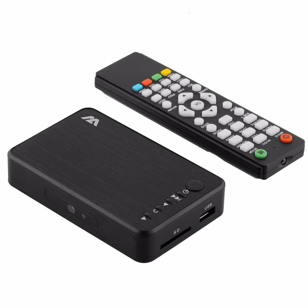 Lecteur multimédia MP023 Mini lecteur multimédia Full HD 1080 P HDD boîtier TV prise en charge HDMI MKV RM SD USB SDHC MMC HDD-HDMI (BOXCHIP F10)