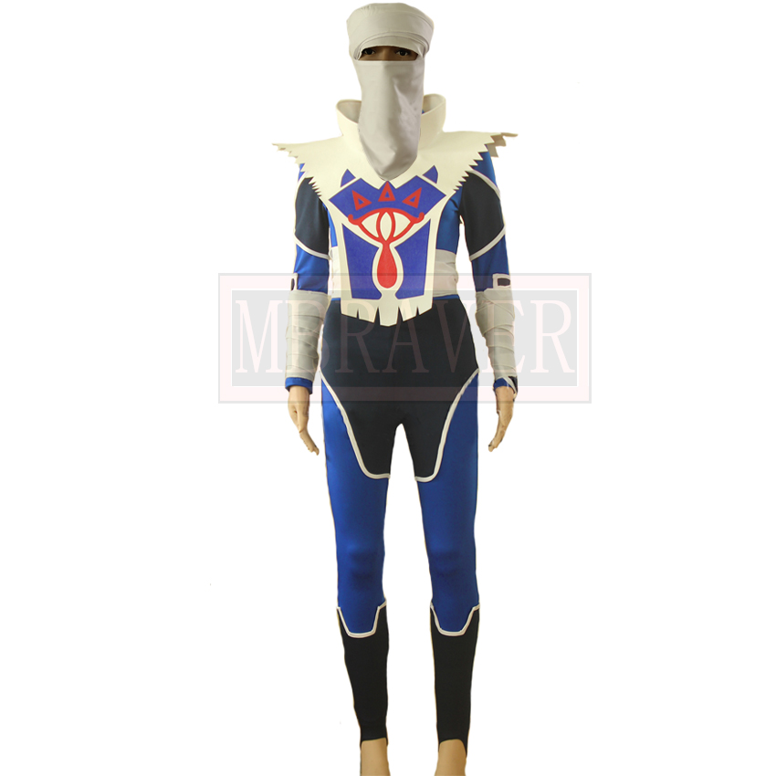 The Legend of Zelda: Ocarina of Time Sheik Cosplay Costume Halloween Carnival Unifroms Custom Made Any Size