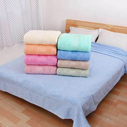 Terry Towel Quilt Blanket European Style Flower Shape Solid Color Soft Throw Blanket For Adults On The/Bed/Sofa/Plane/Travel