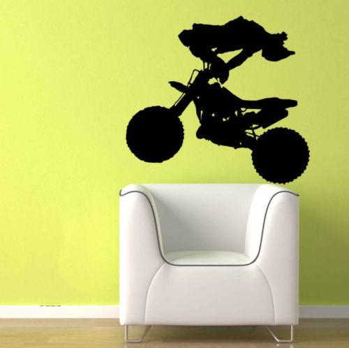 Motorcross Stunt Dirt Bike Boys Room Removable Wall Art Vinyl Decal ...