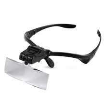 Hand Free 1.0-3.5X 5 Lens Head Magnifier Dental Loupes Jewelry Watch