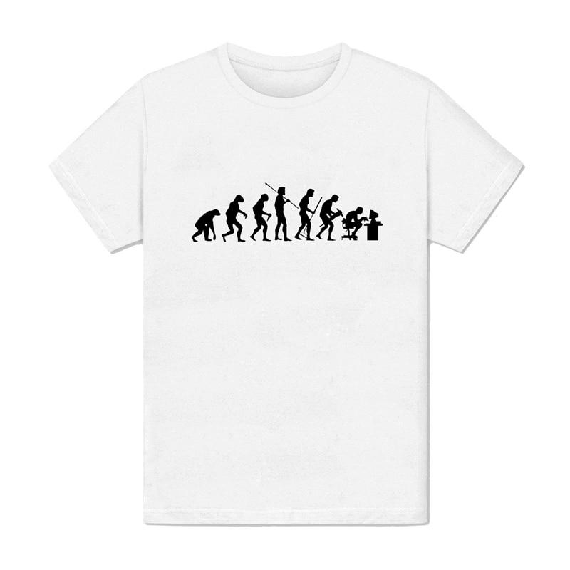 T Shirt Men S White Evolutionary Shirt Men Computer Science Taste Story Fashion New Design Cotton Male Tee Shirt Designing T Shirts Aliexpress
