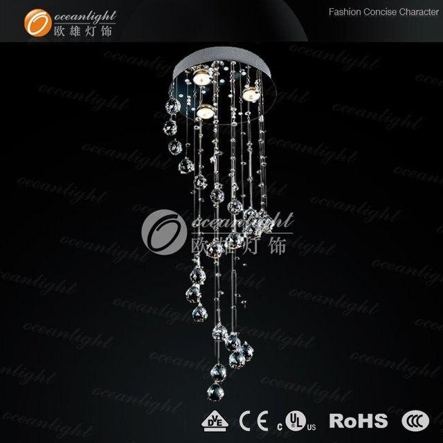 Free shipping modern crystal chandelier,elegant spiral crystal chandelier ODF9526 Dia30 H75cm on promotion