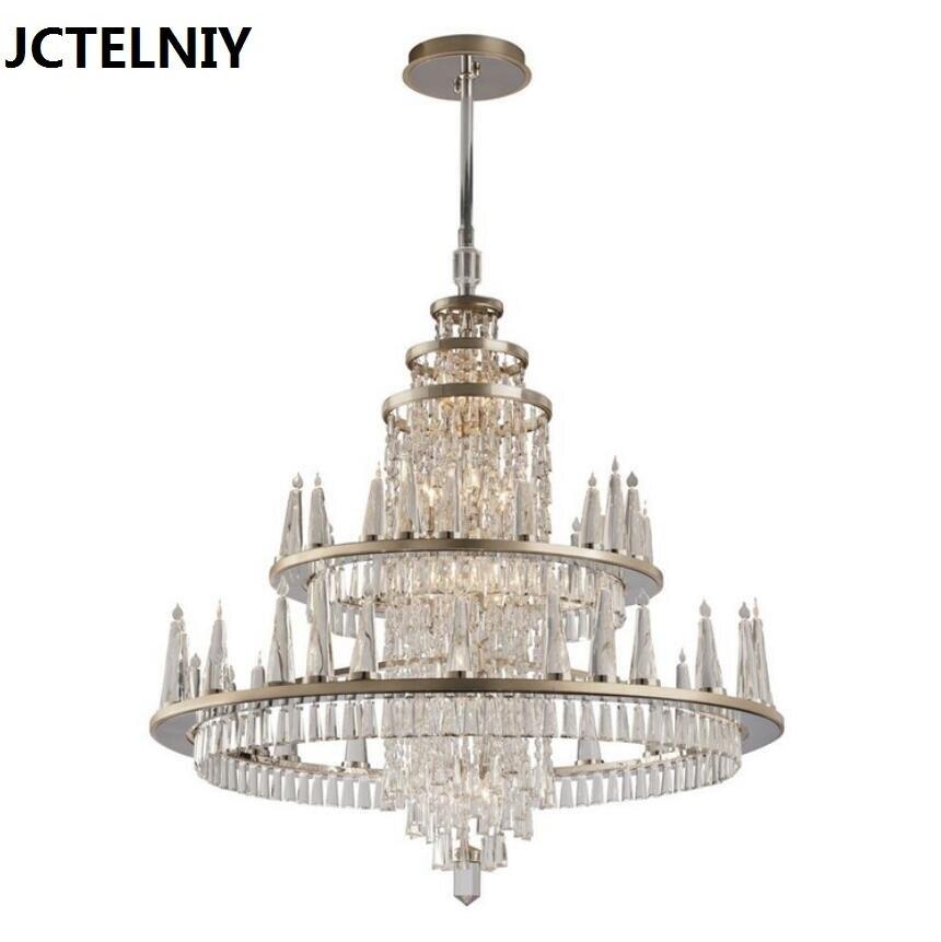 Luxury american style crystal dining room pendant light large pendant light personalized lamp vintage pendant light