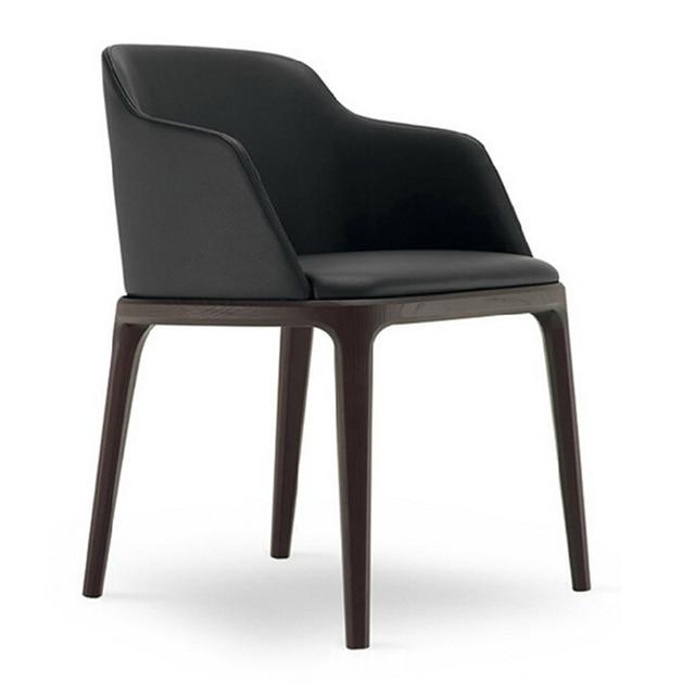 Европейский бытовой спинки твердого дерева, обеденный стул стул элегантный стул белье съесть стул образца