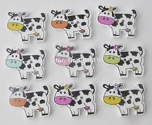 WBNGKL cutely children buttons wooden cow randomly 150pcs sewing supplies