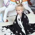 Дышащая трикотажные детское одеяло новорожденного Треугольник XO Дерево стиль младенца хлопка пеленальный 75 см * 100 см новорожденных реквизит