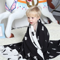 Transpirable de punto manta de bebé recién nacido Triángulo XO estilo Árbol de algodón swaddle bebé 75 cm * 100 cm props nacidos