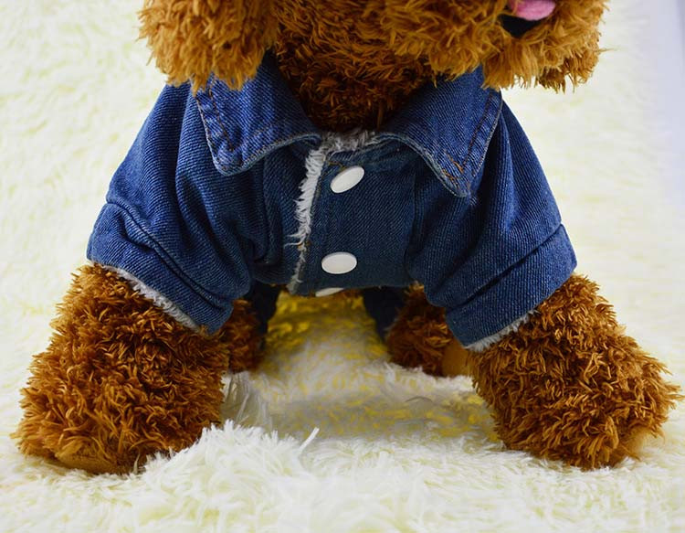 Thick Winter Pet Jeans Clothes Dog Coat Jumpsuit Overalls For Small and Large Dogs High Quality Dog Jeans Apparel Factory Outlet5