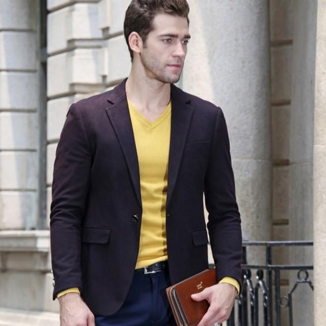 Exclusivo Design Mens Marca Blazer Jacket Slim Fit Elegante 30% botão de metal Blazer de lã terno Masculino Para Homens Mens Floral Blazer