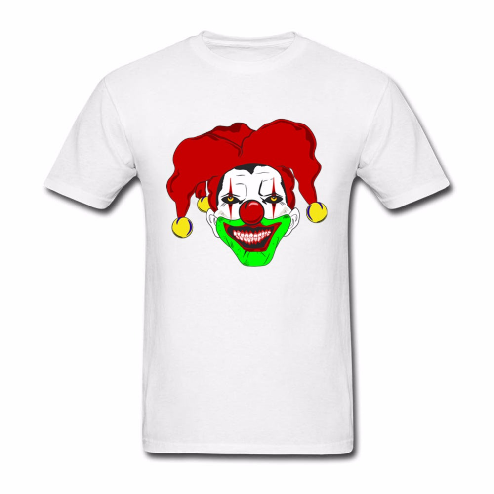 New 2018 summer fashion Clown design cotton round neck ...