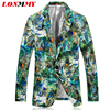 LONMMY M 4XL Floral Men Blazer Jackets Fashion Peacock Print Slim Fit Casual Blazers And Jackets