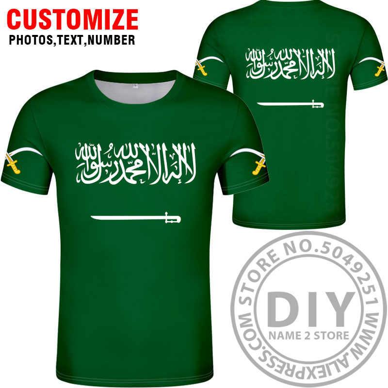 Футболка «сделай сам» из Саудовской Аравии, Бесплатная Футболка с именем САУ, Национальный флаг, арабский, ислам, арабская страна, принт, текстовая одежда