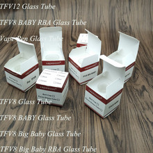 20pcs/lot VapeSoon Replacement Glass Tube For SMOK TFV2FV8 Big Baby Minos Sub Ohm Birt one mini Spiral Tank Clear Glass Tube