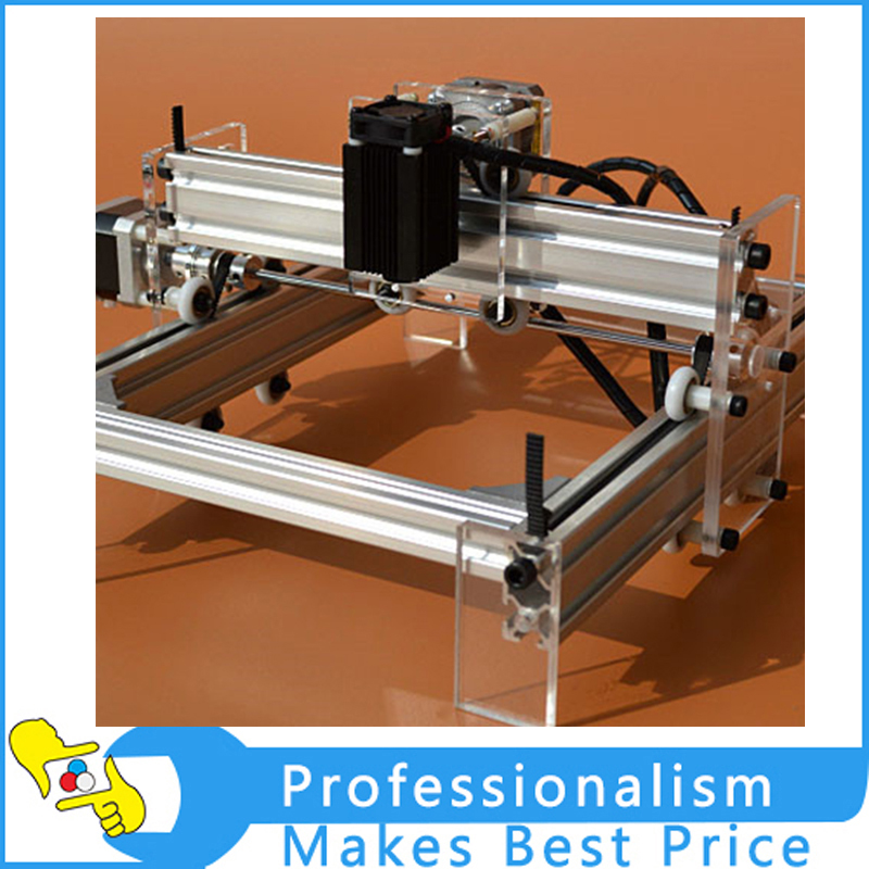 Good quality New DIY laser engraving machine 2000mw CNC laser work area 17*20cm , laser cutter , laser engraving machine 10w 15w diy cnc laser marking machine work area 14 20cm for stainless steel wood aluminum etc metal material