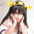 Kantai Collection Fleet Girls Collection KanColle Haruna cos Dark Grey Long Cosplay Wig