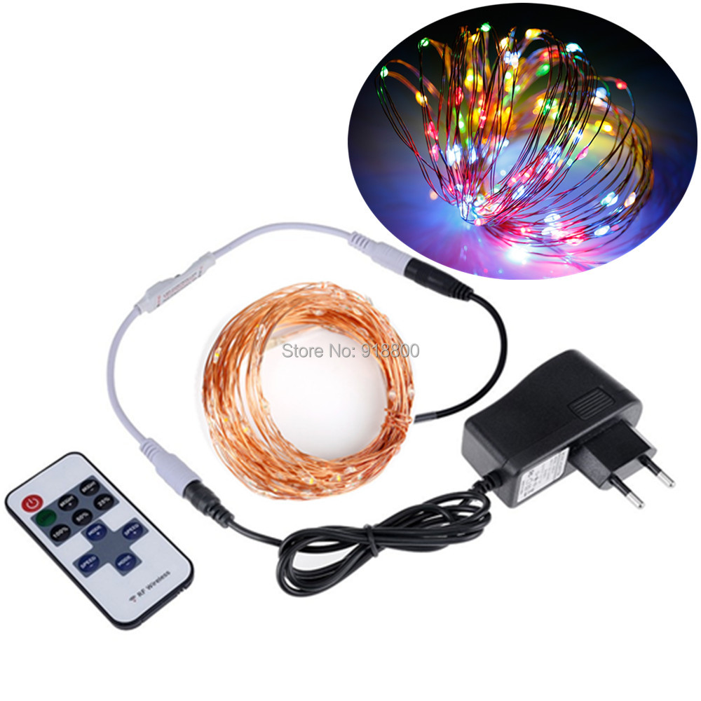 LED String Lights 5M 10M DC 12V Srebrny drut miedziany Fairy Garland LED Christmas Lights Indoor Outdoor Wedding Party Decoration