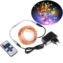 LED String Lights 5M 10M DC 12V Silver Copper Wire Fairy Garland LED Christmas Lights Indoor Outdoor Wedding Party Decoration