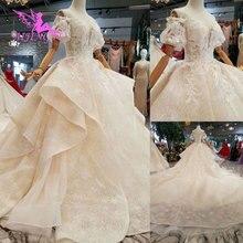 AIJINGYU فساتين زفاف جميلة على الانترنت كريستال صور مذهلة المحلات التجارية الفاخرة أحدث ثوب الإناث المحرز في تركيا
