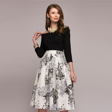 Fashion A line Off Shoulder Floral Printed Dress Long Sleeve Elegant Vintage Midi Dress 2019 Autumn Bohemian Party Women Dresses wi fi адаптер tp link tl wn822n белый