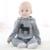 Macacão de bebê Moda Marca Bebe Manga Longa Com Capuz Traje Do Bebê Do Algodão Primavera Outono Romper Do Bebê Recém-nascido Menino Roupas 0-2 T