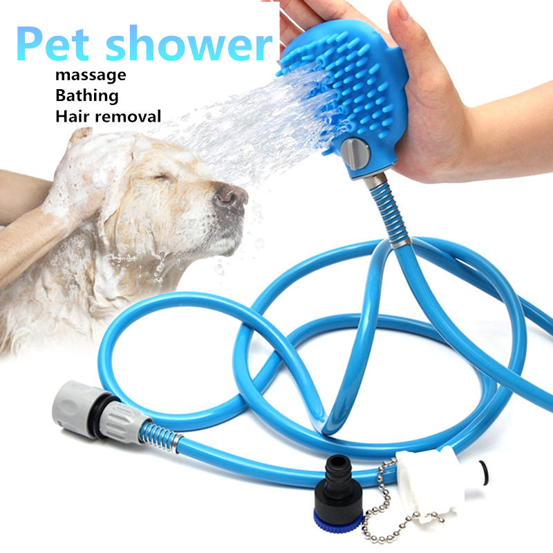 Pet Shower Supply Accessoris Cat Dog Bath Head Brush Washing Hair Wash Multi-function Sprinkler L199