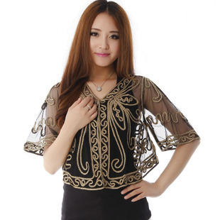 3a36b0a529f lace shrug for women 2015 Fashion lace shrugs for dresses Embroidery short  Cardigan