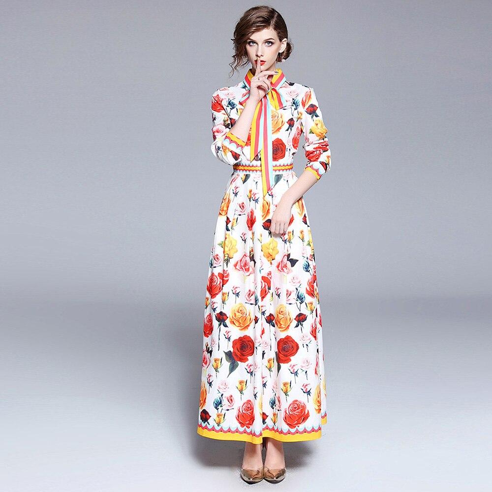 840ebe4a3f Róże wydrukowano kobiety maxi długa sukienka letnia suczka linia party  dress kobieta w stylu vintage sukienka drogi startowej w Róże wydrukowano  kobiety ...