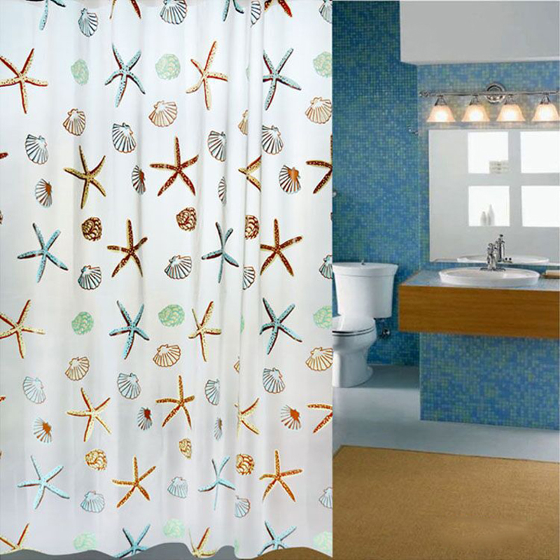 Flower PEVA Waterproof Bathroom Curtain For Bath Shower Eco-friendly Moldproof Partition