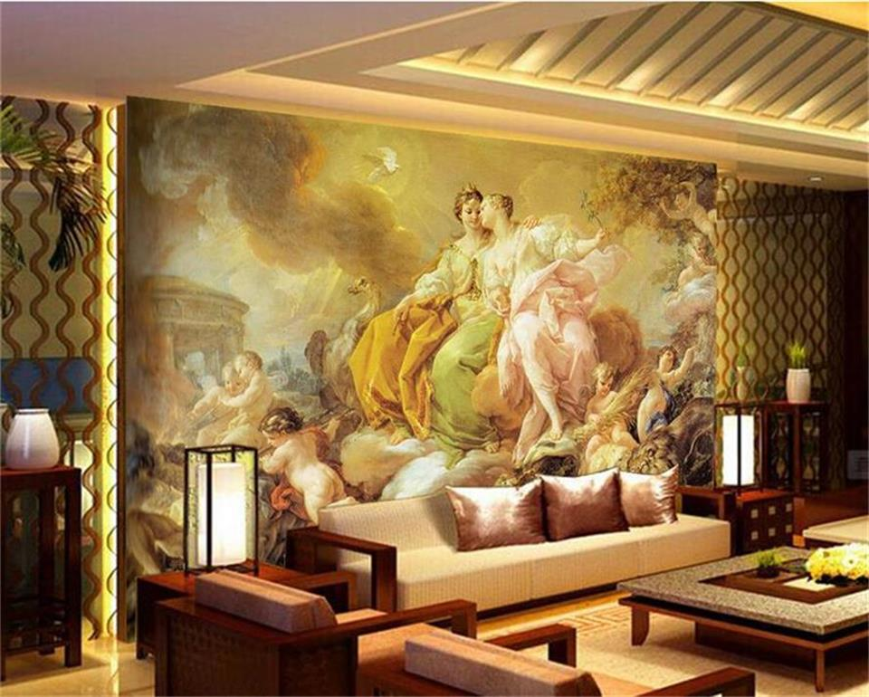 photo wallpaper custom 3d mural living room church Renaissance oil ...