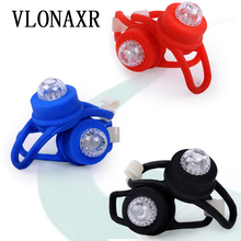 Single eye silicone lamp LED strobe ring light safety warning tail colorful bicycle taillight outdoor riding equipment