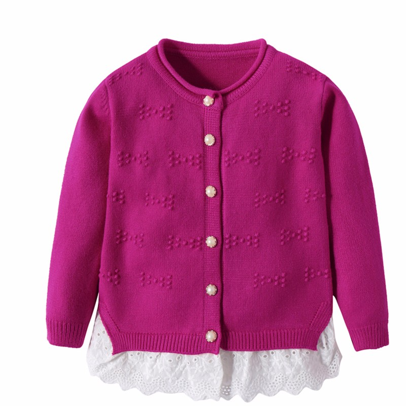 Cotton Girls Sweaters Solid Top With Button Long Sleeve Children Clothes Warm Girl Toddler Cardigan Autumn Winter Kids Sweater (9)
