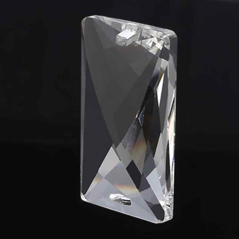 Прозрачные кристаллы для люстры часть лампы падение Призма Радужная Подвеска бусины для украшения дома 50*30 мм