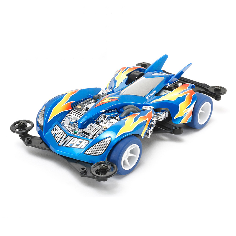 Bricolage TAMIYA 4WD voiture modèle Spin-viper perle bleu spécial 95329