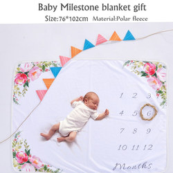 BABY blanket,Milestone Blanket as Month to Month Photography Props,newborn photography props