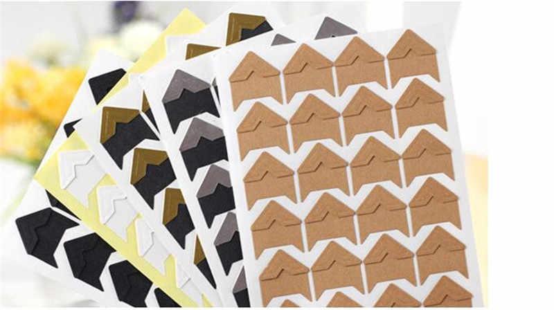 DIY scrapbook רטרו נייר להדביק סגנון פינת 24 ויסקוזה לכל גיליונות 8 צבעים לבחירה משלוח חינם