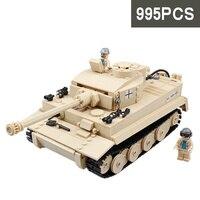 995pcs Kids Educational Toys Building Blocks Sets LegoINGs Military WW2 German King Tiger Tank Army Soldiers Bricks Model Toys