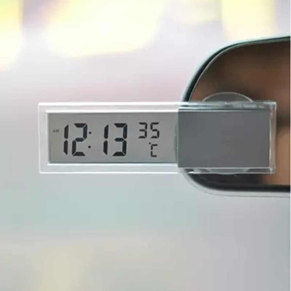 Practical Digital LCD Car Thermometer Temperature Meter Windshield Rear View Mirror Suction Vehicle Auto Instrument Dropshipping