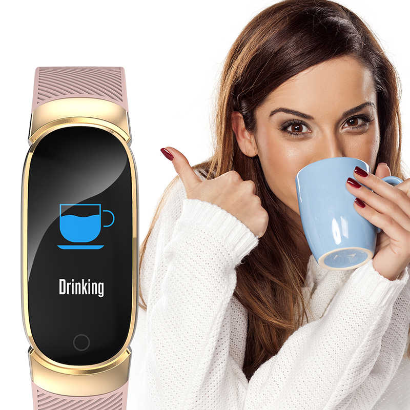 Smart Armband Horloge Vrouwen Mannen Fitness Hartslag Call Sport Running Tracker Waterdichte Legering Smart Polshorloge Reloj