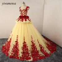 Yiwumensa Luxury Princess Wedding Dress Plus Size Ball Gown Wedding Dresses 2018 Vestidos De Noiva Robe