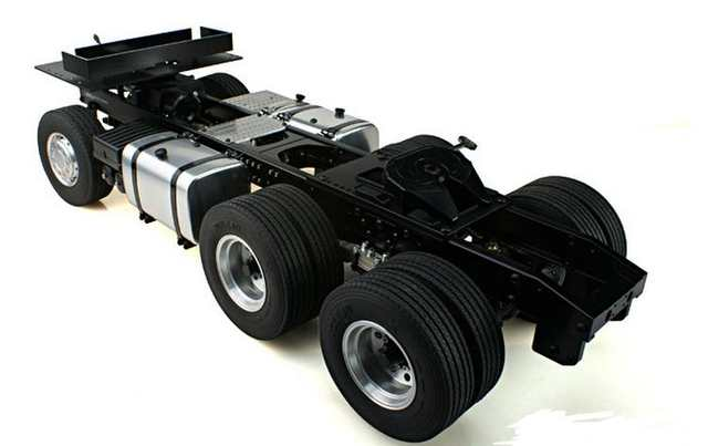 US $99 0 |1/14 scale RC Dump truck 6X4 convert 6X6 Chassis Frame Axle (2)  For Tamiya Semi Trailer Tractor Hino SCANIA BENZ R620 R470 MAN-in Parts &
