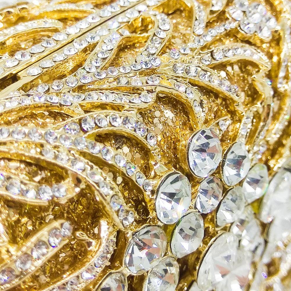 Socialite De Cristal Bag Sacs Métal Minaudière Fgg champagne Dur Bag Mariage Sac Bag Femmes À Evening Boutique Cas En Partie Main Évider Clutch Embrayages Gold Or Soirée silver dtqBqY7