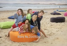 big hug huddle eco friendly indoor / outdoor round bean bag many colors