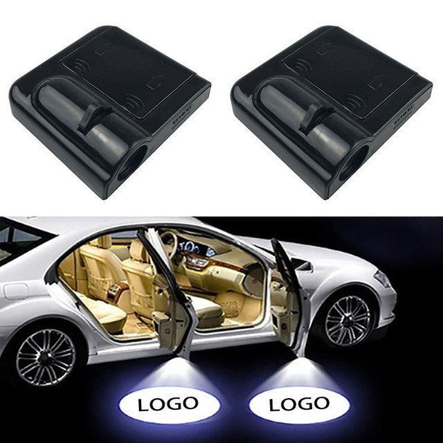 2PCS Wireless Led Car Door Welcome Laser Projector Logo Ghost Shadow Light for Volkswagen Ford BMW Toyota Hyundai Kia Mazda Audi