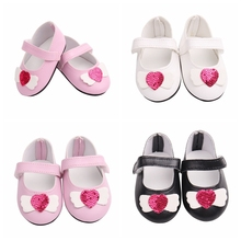 Baby Doll Cool Fashion Bowknot Leather Shoes For 18 Inch Our Generation Girl Accessory Clothes Toy Kids Gifts