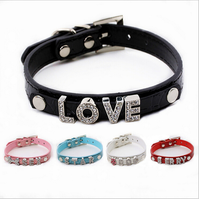 ecfe9a39b5 US $2.99  Croc Rhinestone Dog Pet Cat Puppy Personalized Collar with FREE  Crystal Name size XS S M L 5 Colors-in Collars from Home & Garden on ...